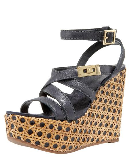 Dalcin Wicker Platform Wedge Sandal