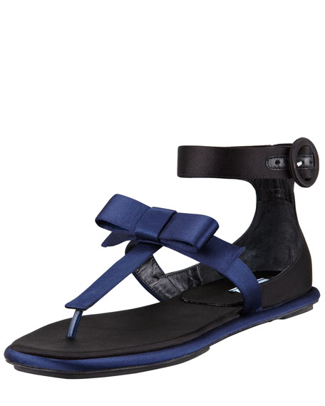 big discount sale online best for sale Prada Satin Bow Slippers cheap pick a best sale cheap prices UVdO02