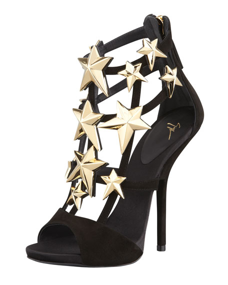 Giuseppe Zanotti Caged Suede Sandals cheap finishline outlet looking for visit new online cheap sale shop for LhozCvFn