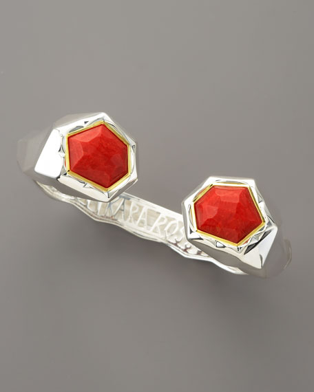 Faceted Coral Kick Cuff