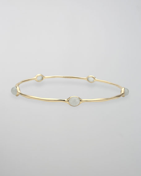 Five-Station Bangle, Aquamarine