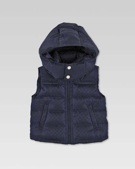 Waterproof Quilted Mini GG Vest