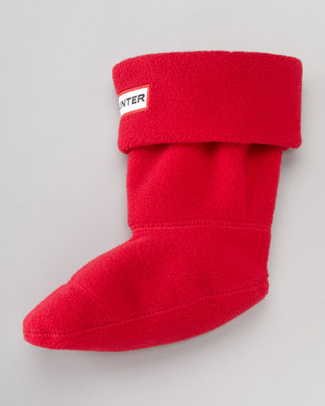 First Fleece Welly Sock, Red