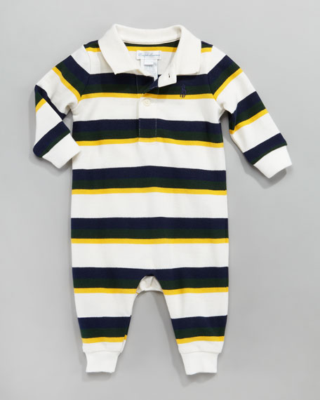 Striped Mesh Playsuit