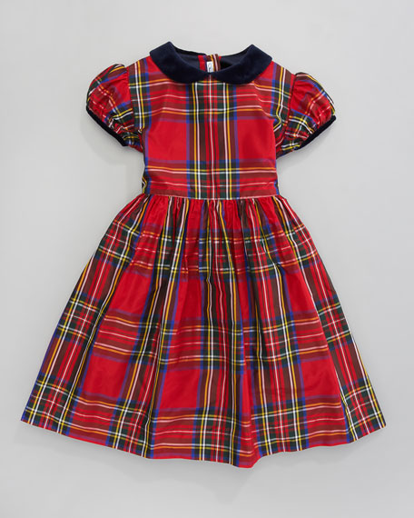 Plaid Silk Taffeta Dress