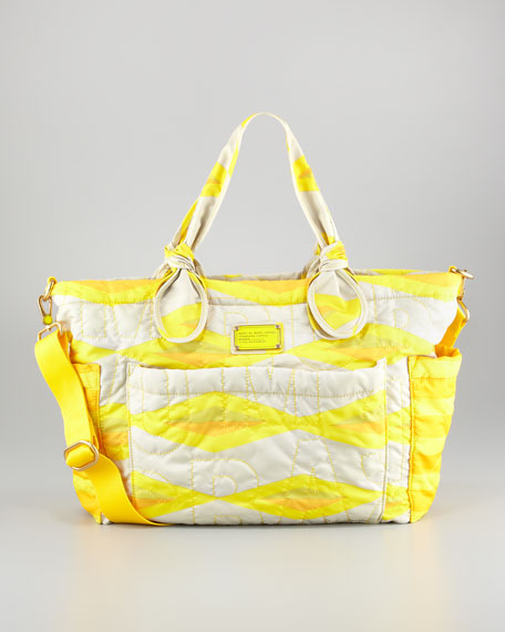 Pretty Nylon Eliz-A-Baby Diaper Bag, Lemon Custard