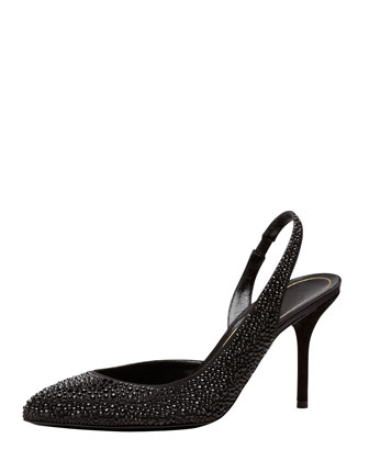 Crystal-Covered Pump, Black