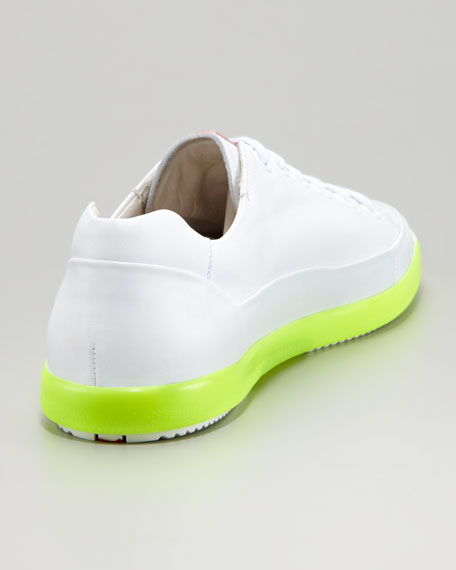 Low-Top Neon-Sole Sneaker