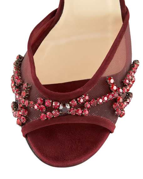 BG 111th Anniversary Crystal-Embroidered Sandal