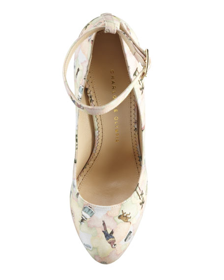 Carmen Brazilian Printed Wedge Pump