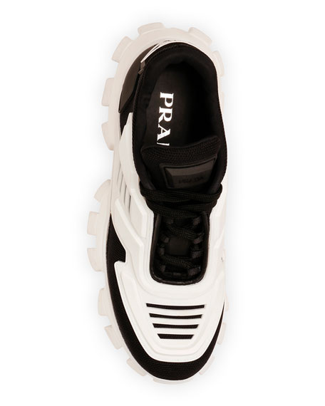 Tech Caged Lace-Up Chunky Sneakers