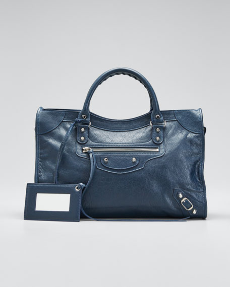 Image 1 of 1: Classic City AJ Satchel Bag with Logo Strap