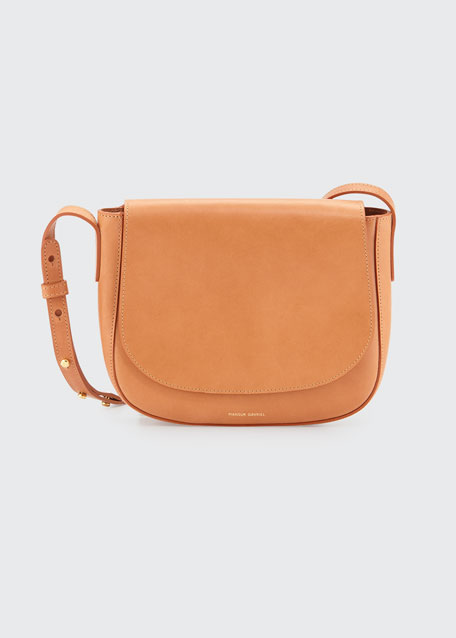 Image 1 of 1: Vegetable-Tanned Leather Crossbody Bag