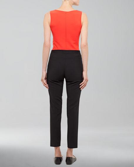 Franca High-Waist Cropped Pants, Black