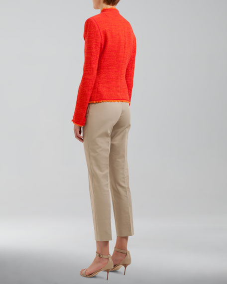 Franca High-Waist Cropped Pants, Sable
