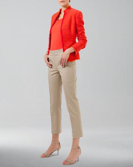 Franca High-Waist Cropped Pants, Sable