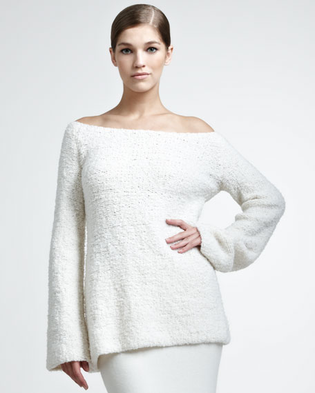 Wool/Cashmere Boucle Pullover
