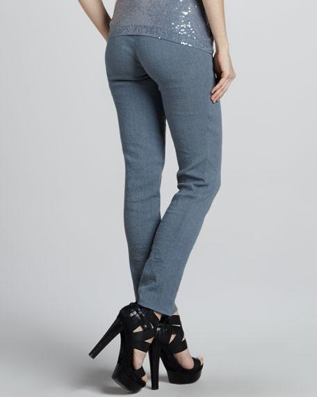 Side-Zip Ankle Pants, Tempest