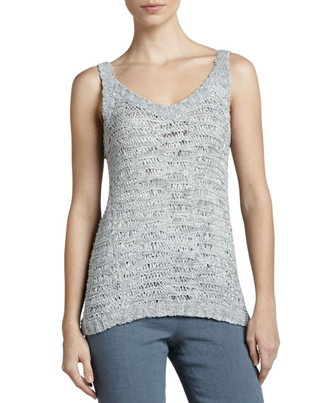 V-Neck Silk Camisole, Oyster