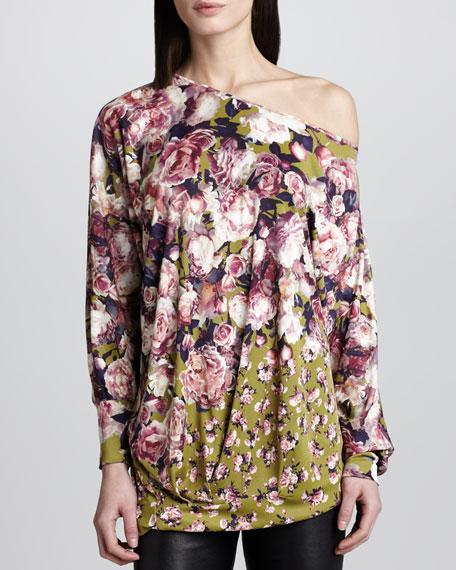Off-Shoulder Floral-Print Top