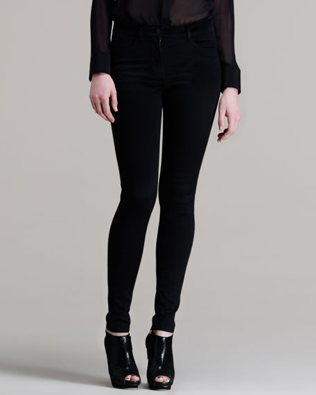 High-Waisted Stretch Skinny Jeans