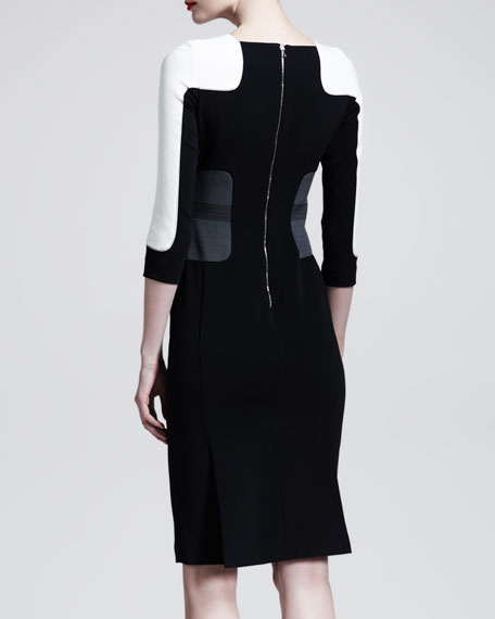 Aquilano rimondi color block dress