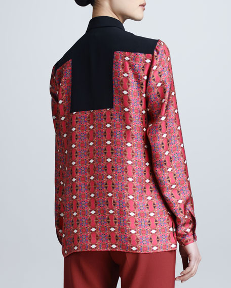 Geometric-Print Shirt