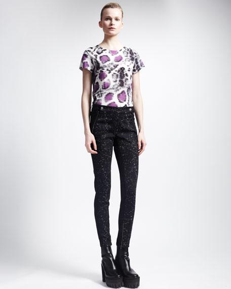Miracle Splatter-Print Skinny Jeans