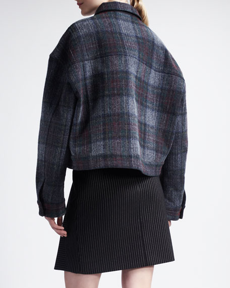 Striped Trumpet-Front Skirt