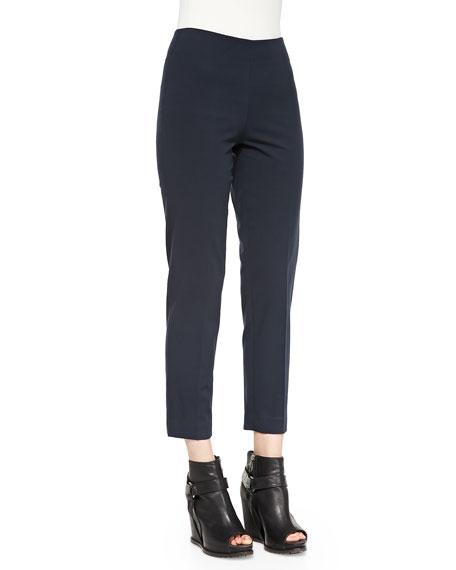 Cropped Stretch Cotton Pants
