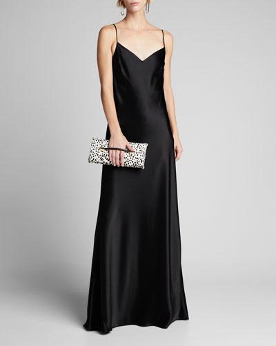Alcazar Satin Crepe Gown  Black