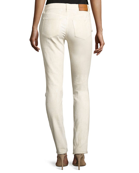 105 Washed Cigarette Jeans, White
