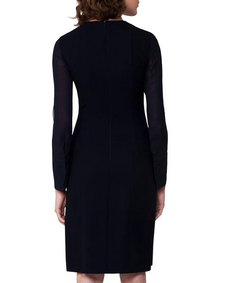 Split-Neck Zip-Front Dress