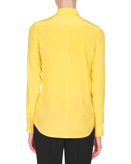 Crepe de Chine Blouse, Yellow