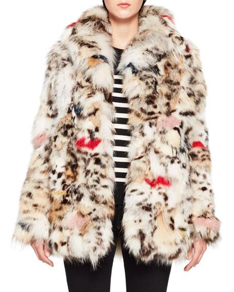 Fox-Fur Coat - Natural Size 38 Fr in Neutrals