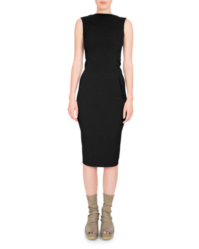 Grosgrain V-Back Bodycon Dress