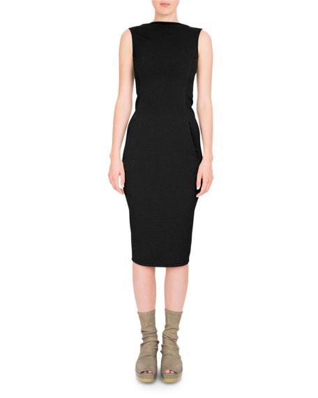 Grosgrain V-Back Bodycon Dress
