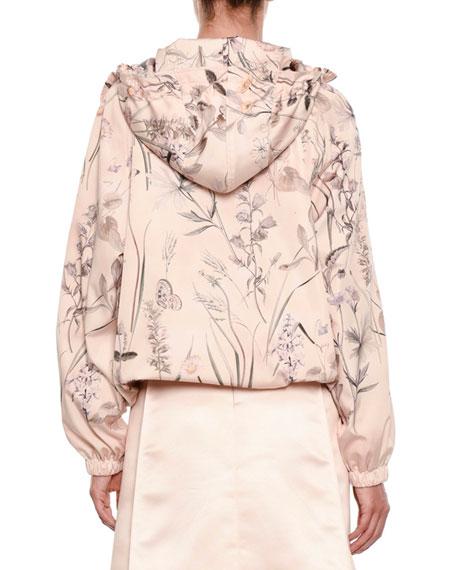 Floral-Print Pullover Parka