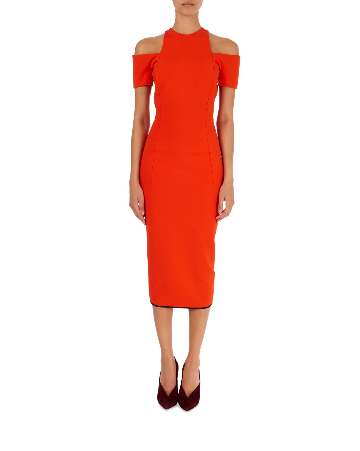 Cold Shoulder Midi Dress by Bergdorf Goodman