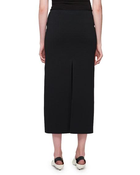 Double-Ribbed Slit Skirt