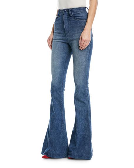 Brandon Maxwell High Waist Bell Bottom Jeans In Denim  e8388a7f2