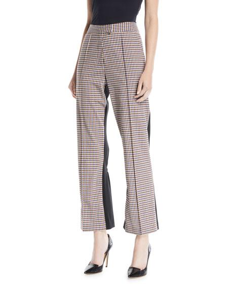 The Scrunchy Plaid Trouser