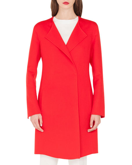 Image 1 of 1: Double-Face Cashmere Clean-Line Coat