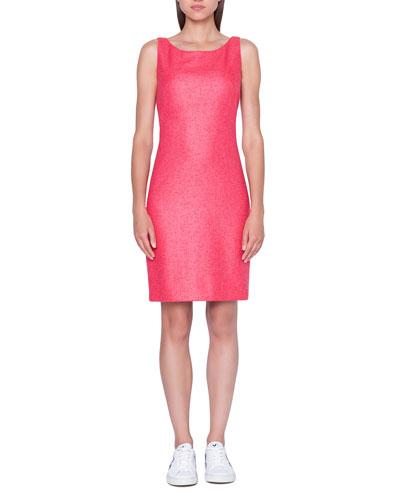 Cashmere/Silk Woven Pencil Dress