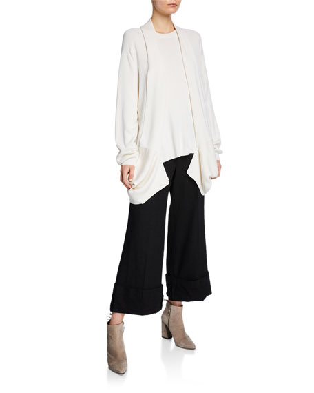 Turn Up Lightweight Wool Trousers