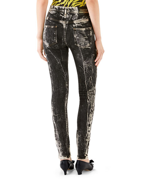 Marble Washed Skinny Jeans