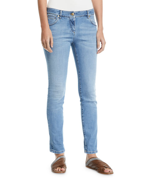 Low-Rise Skinny Stretch-Denim Pants