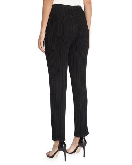 Cosmic Pleated Slim-Leg Crop Pants