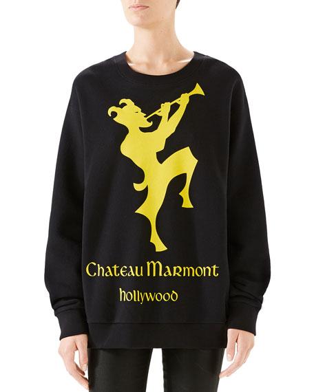 Gucci Oversized Printed Heavy Felt Sweatshirt