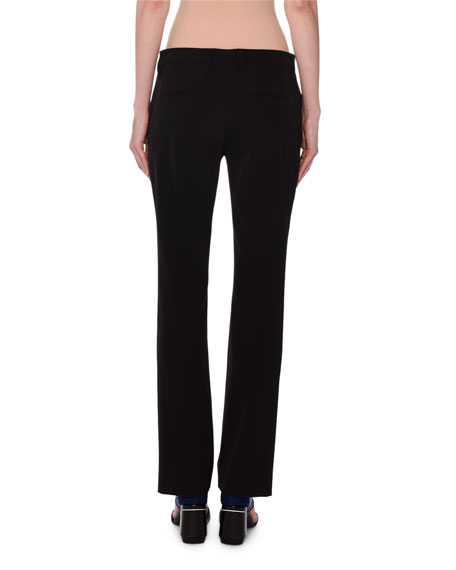 Mid-Rise Straight Leg Techno-Stretch Pants